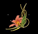 Virágos sarokdíszek