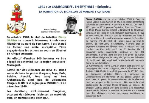 * 80e Anniversaire de la Campagne d'Erythrée (février-mars 1941)  1 -