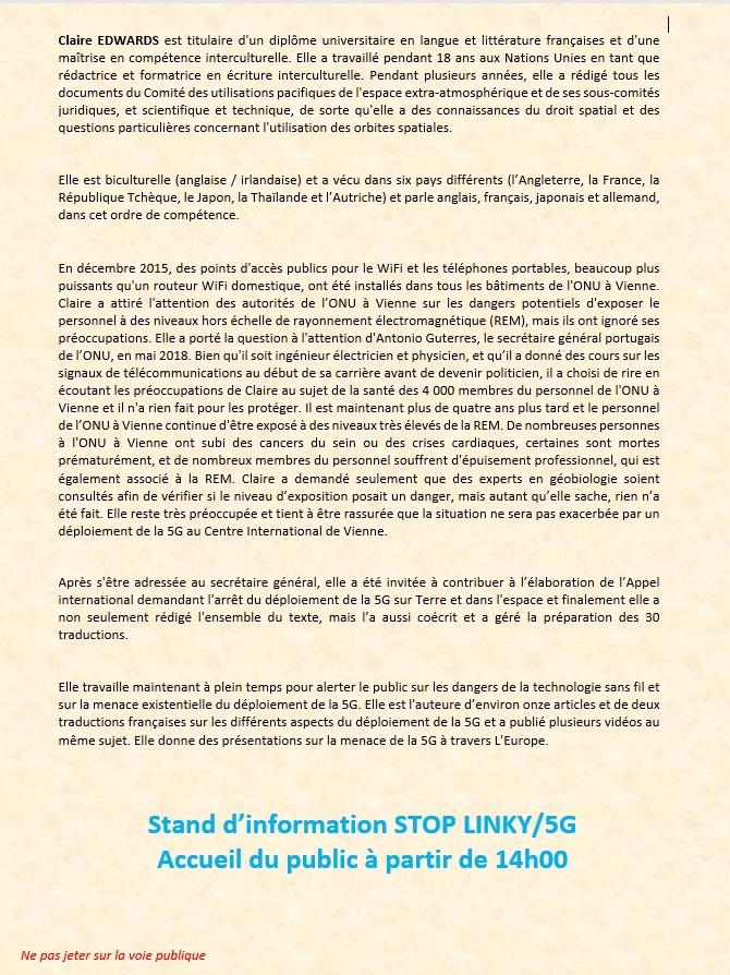 La crau (83) - 13 mars   >>>   Conférence Claire Edwards sur les risques humanitaires et sanitaires liés au SMOG