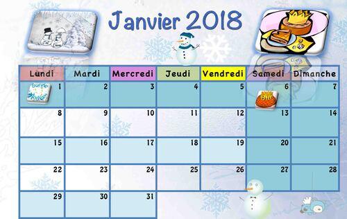 Calendriers enfants 2017/2018