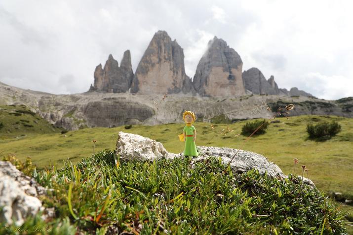 Le Petit Prince dans les Dolomites, Tre Cime, Italie 2020
