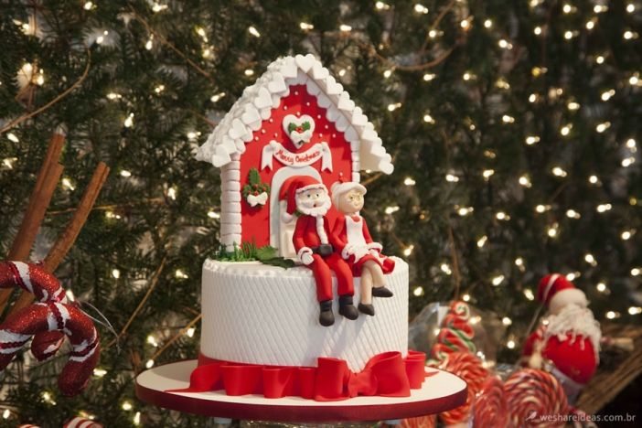 mesa de doces Natal, como decorar a mesa para o natal, decoração natal,  papai noel, doces natal, bolos natalinos, merry christmas, ch… | Mesa de  doces, Natal, Doces