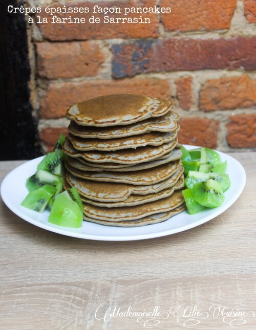 Crêpes épaisses façon pancakes à la farine de sarrasin