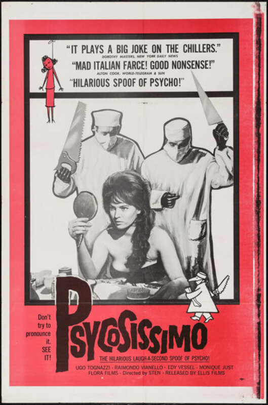 PSYCHOSISSIMO BOX OFFICE USA 1963