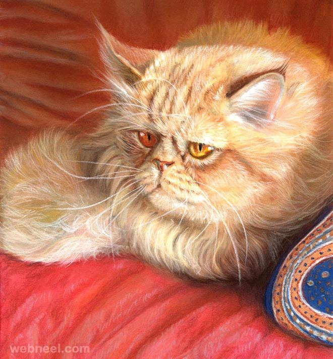 persian cat painting