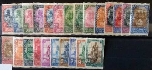 Soudan série 1931 -25 timbres pour 3.45€