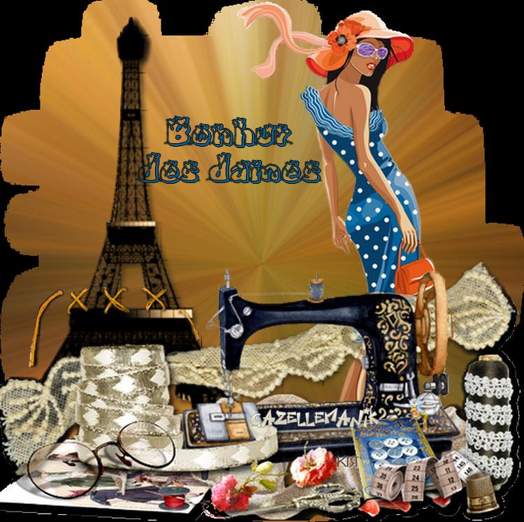Défi pour Nathie 13 or  ( la Parisienne et la mode )