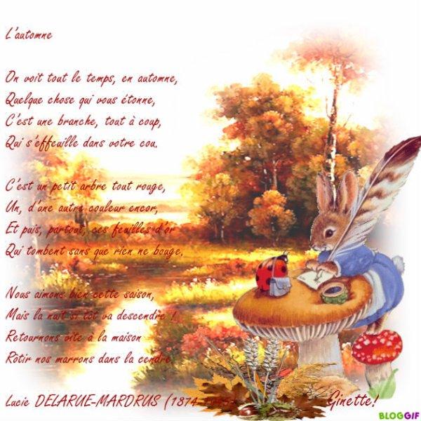 Un Joli poème de Lucie Delarue-Mardrus! Bon samedi à tous mes amis bisous  Ginette! - Blog de guyene627