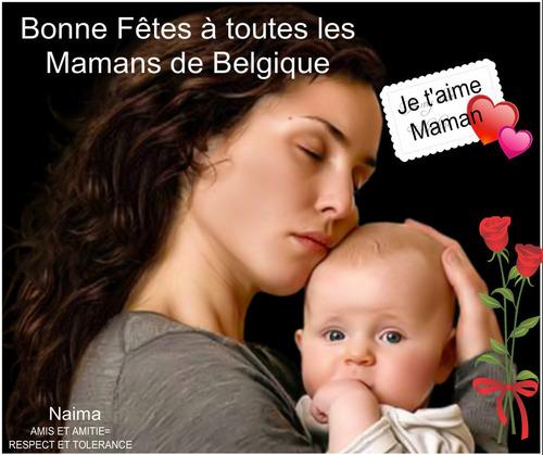 BONNE FETE AUX MAMANS DE BELGIQUE..