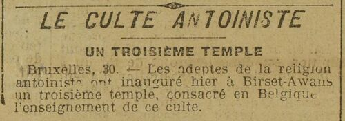 Temple de Bierset (Le Grand écho du Nord de la France 2 oct 1912)