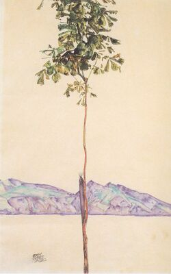 Egon Schiele, peintre et poète.