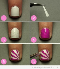 Nail art facile ongle courts