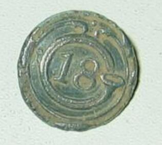 Bouton du 18ème régiment d'infanterie de ligne