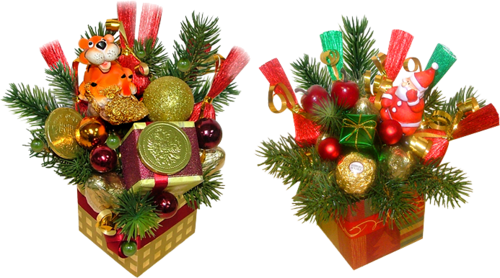 Tubes boites de Noël 7