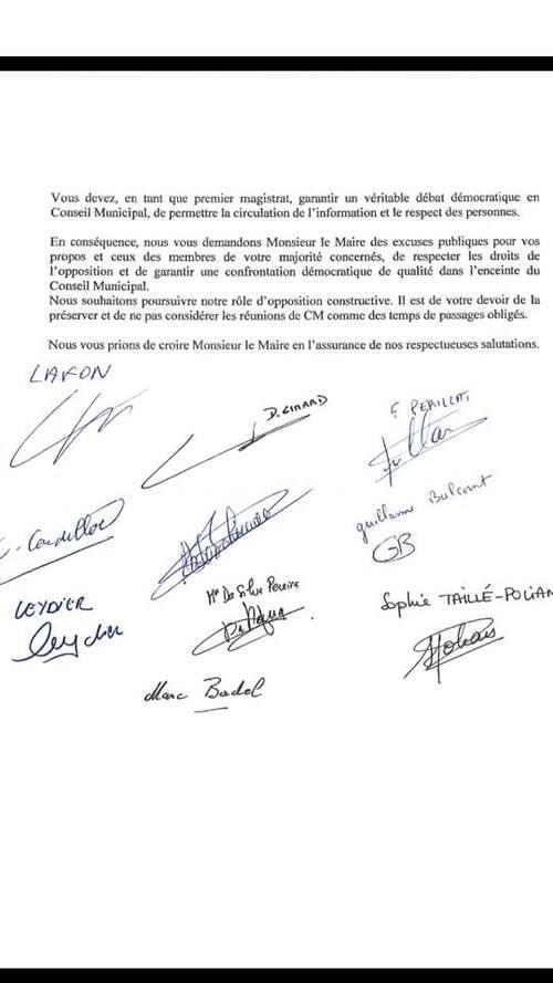 Les élu(e)s de l'opposition (Elu(e)s front de gauche - PCF - PG - MRC - PS) écrivent une lettre ouverte au Maire de Villejuif
