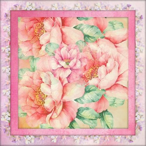 fonds fleuris  ton rose