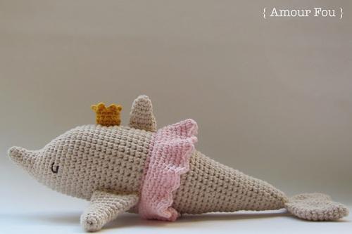 Le dauphin amigurumi