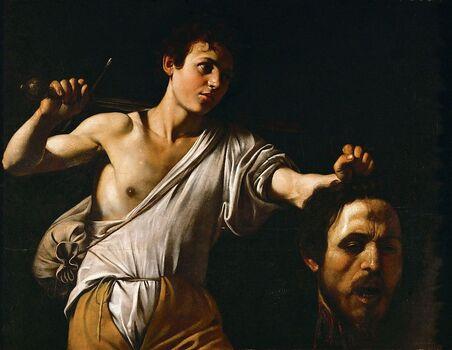 David tenant la tête de Goliathillustré par Le Caravage (1606-1607)Musée d'histoire de l'art de Vienne
