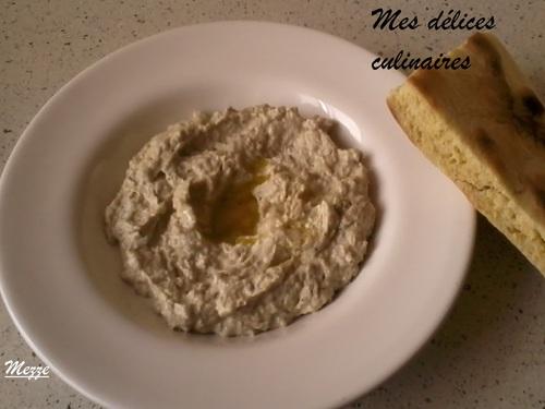 Mezze ou crème d'aubergine au tahineh