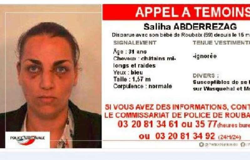 Roubaix: La police lance un appel à témoins pour retrouver une femme et son bébé de 4 mois