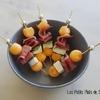 piques melon basilic mozza prosciutto