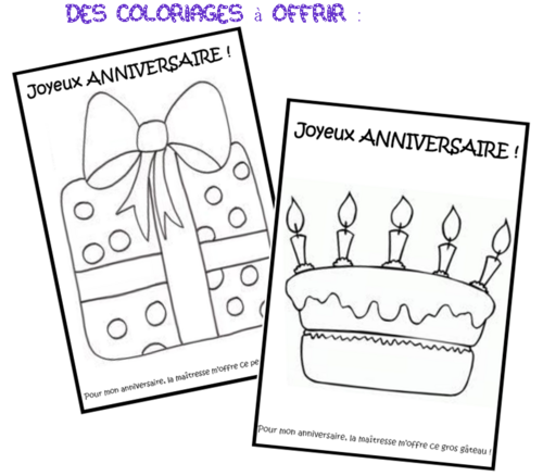 Coloriage anniversaire