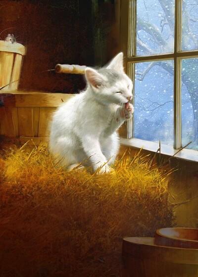 Tableau du samedi : Le chat dans la paille