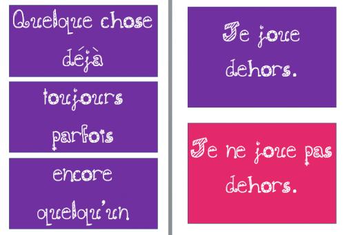 français : affichages - formes affirmatives et négatives - cm