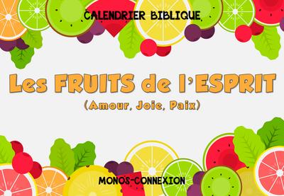 Calendrier Biblique - Les Fruits de l'Esprit (1) - La Paix