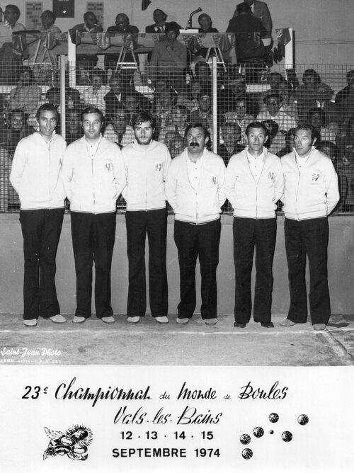 Souvenir : Championnat du monde1974 vals les bains