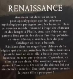 Chronique du livre {Renaissance - T1 - Audace}