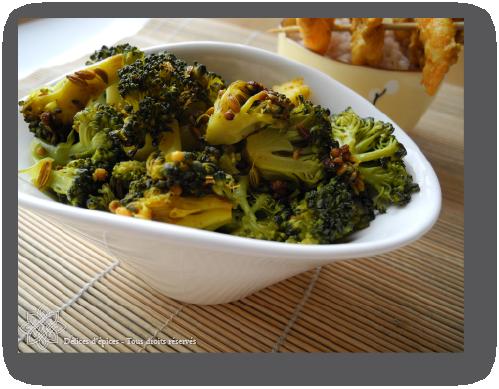 Brocolis aux graines de fenouil et moutarde