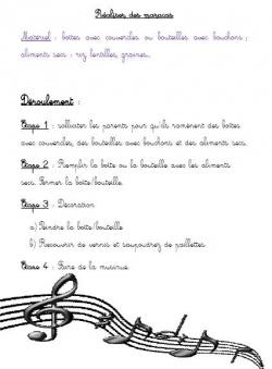 PISC : créer un instrument de musique (maracas)