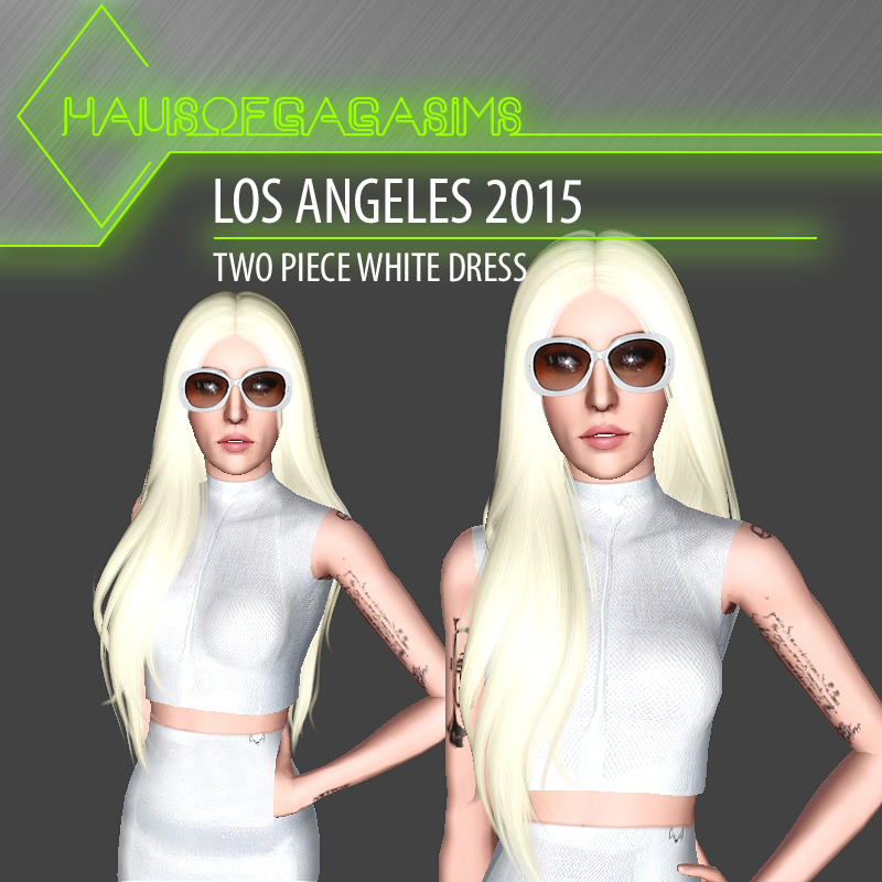 LOS ANGELES 2015 TWO PIECE WHITE DRESS