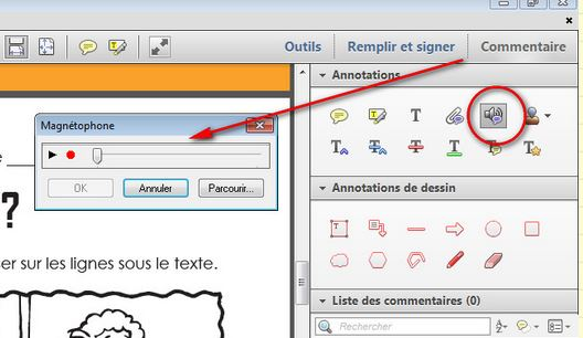 Annotation d'un document PDF avec Adobe Reader XI