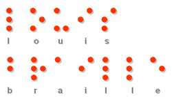 Louis Braille en braille