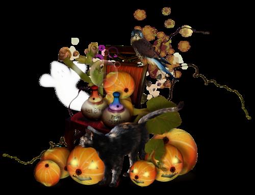 tubes clusters, scraps halloween