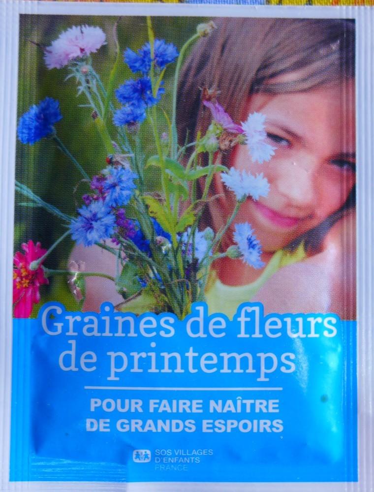 Des graines de fleurs de printemps pour aider Villages d'enfants...