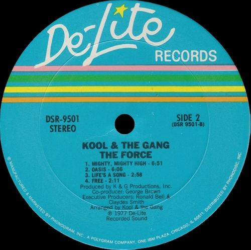 "Kool & The Gang : Album "" The Force "" De-Lite Records DSR-9501 [ US ]"