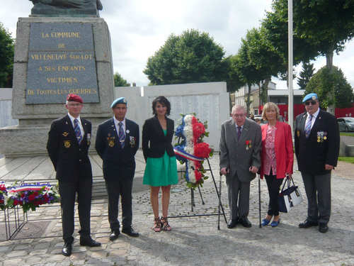 * Commémorations du 18 JUIN 1940 à AGEN et VILLENEUVE S/LOT.