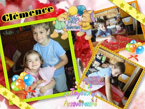 Joyeux anniversaire Clémence, 3 ans