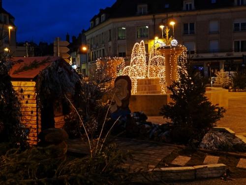 Châtillon sur Seine décorée pour les Fêtes de 2011...