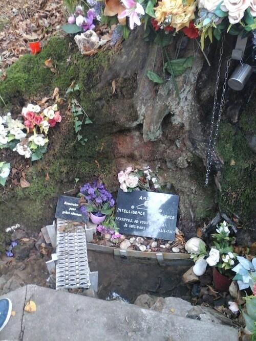 Source du Père - Plaques (Soeur Arlette, Temple de Retinne)