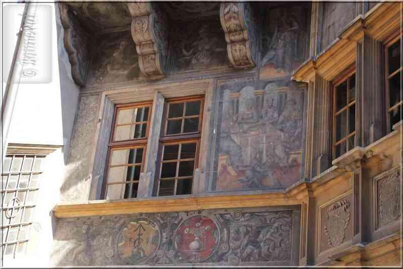 Alsace Haut-Rhin Colmar Maison Pfister peintures de la façade
