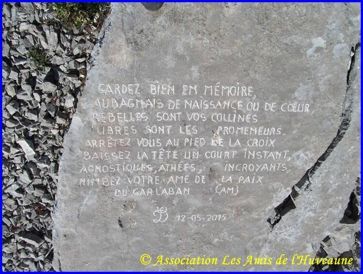 Les dalles gravées du Garlaban de Louis Douard