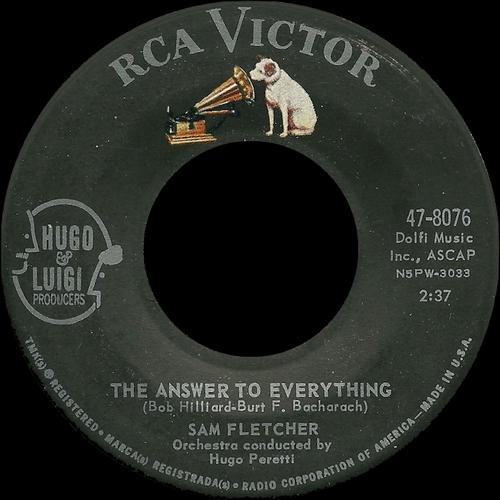 "Sam Fletcher : CD "" The Metro, Cub, RCA Victor & Warner Bros. Singles 1959-1963 "" SB Records DP 100 [ FR ]"