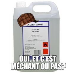L'acétone, c'est quoi?
