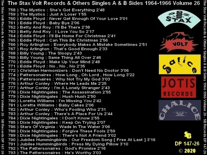 """ The Complete Stax-Volt Singles A & B Sides Vol. 26 Stax & Volt Records & Others "" SB Records DP 147-26 [ FR ]"