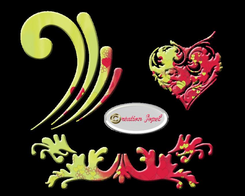 Kit Carton jaune et Rouge Valentin parJopel
