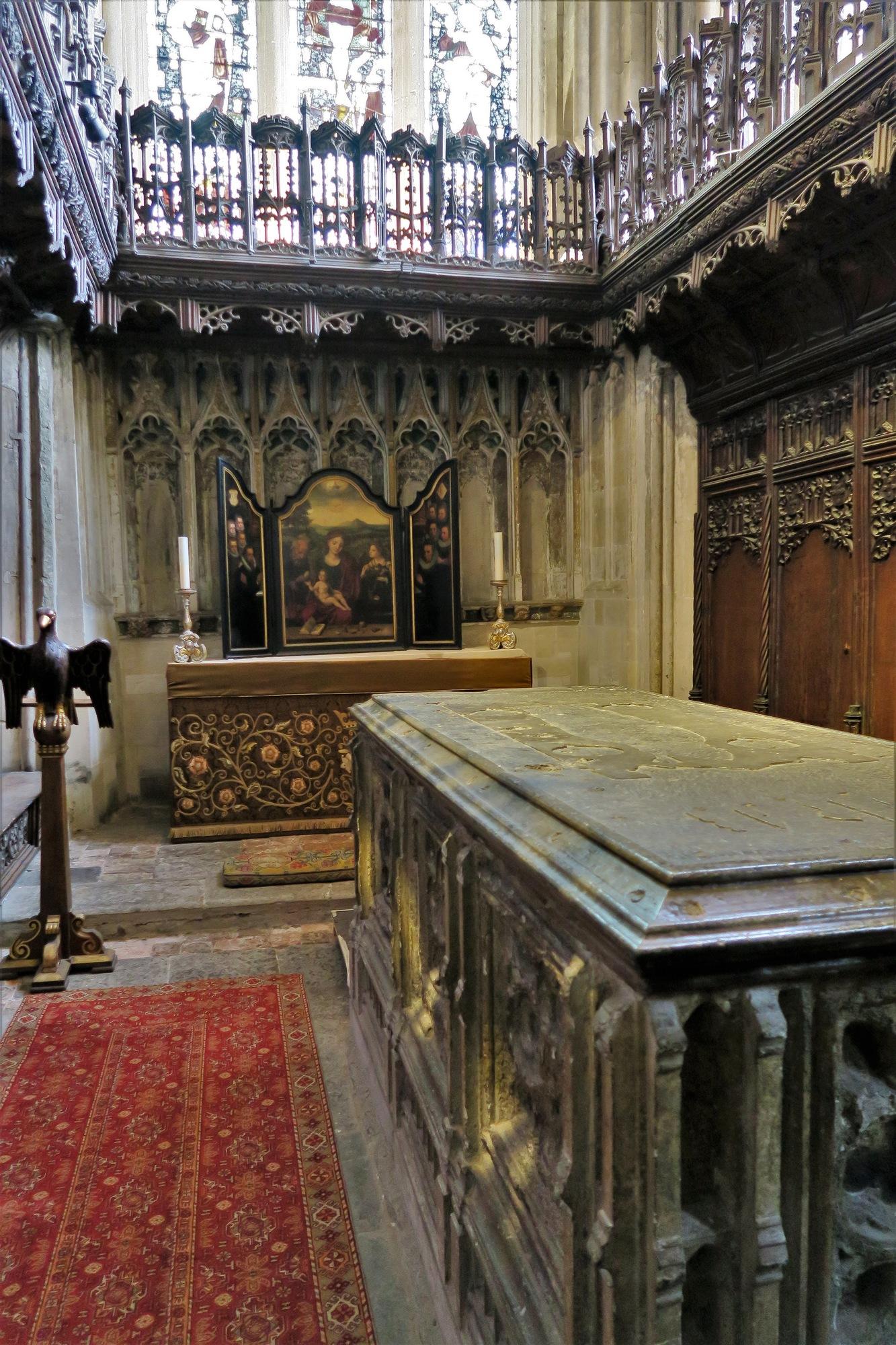 WINCHESTER, la Cathédrale : la Longton's Chapell